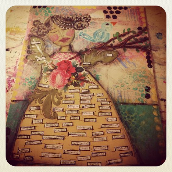 Mixed media canvas painting ideas for beginners for Mixed media canvas art ideas