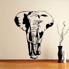 african stencils designs for walls  African Elephant Walking Safari Animal Jungle Wall Sticker Art Design .