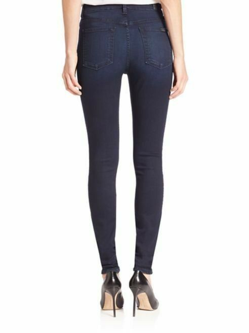 New 7 For All Mankind High Waist Skinny Stretch Jeans Size 24