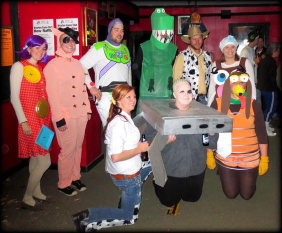 Our groups Toy Story Costumes!