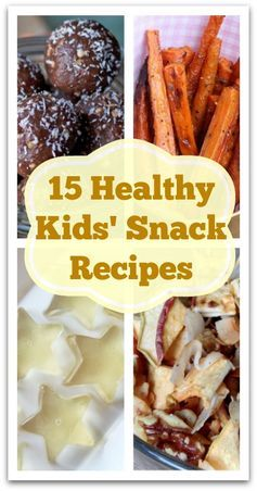 15 Healthy Kids' Snack Recipes - Natural Holistic Life