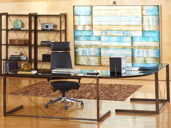 Scandinavian Designs - Desks - CEO Desk Group-Bronze | Harris Loft |  Pinterest | Desks, Office desks and Lofts