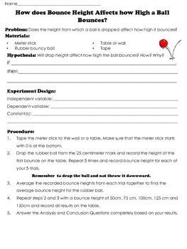 Bouncy Ball Scientific Method Experiments Drop Height And Elasticity Digital Science Teaching Resources Secondary Science Lessons Scientific Method