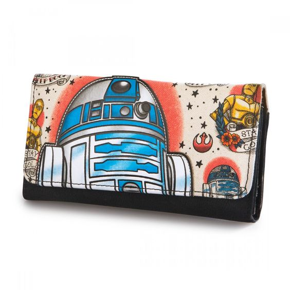 Star Wars R2-D2 Vintage Style Tattoo Wallet by Loungefly