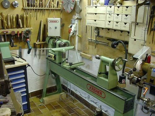 Kreher lathe in Maintor's workshop