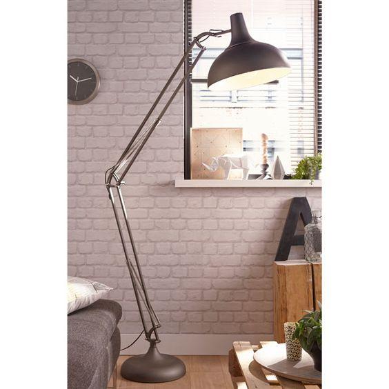 lampadaire noir watsi h 103 cm castorama book pro pinterest lampadaires lampes et tages. Black Bedroom Furniture Sets. Home Design Ideas