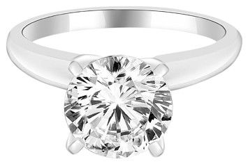 Avi and Co 2.11 ct F-G/VS-SI Round Diamond Solitaire Engagement Ring 14k White Gold