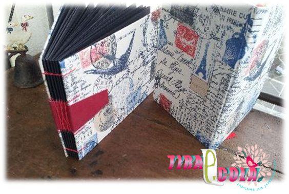 Album de Fotos com costura exposta e  Moleskine de desenho. www.tiraecola.com.br CArtonagem, Encadernacao Artesanal