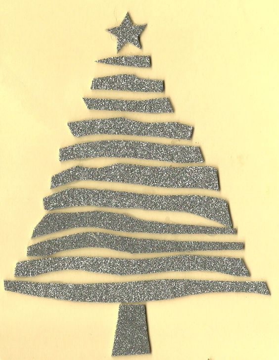tarjeta navideña en foami