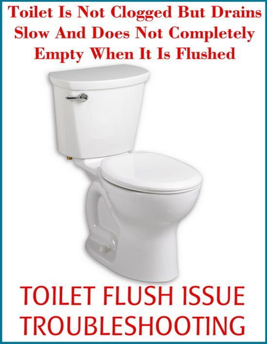 Question Toilet Constantly Flushes Slow And Will Not Fully Empty Solids We Have Never Had This Problem Befo Clogged Toilet Slow Flushing Toilet Toilet Repair
