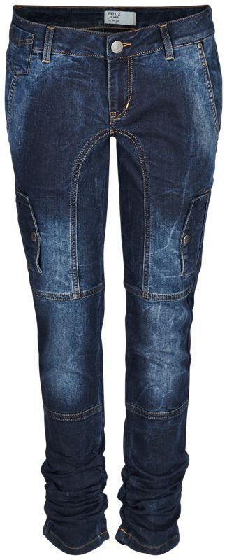 Pulz Jeans Faylinn, Skinny Jeans, Dark Blue Denim