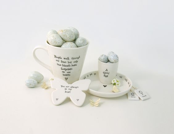East of India, Beautiful Porcelain and Hand Painted Eggs