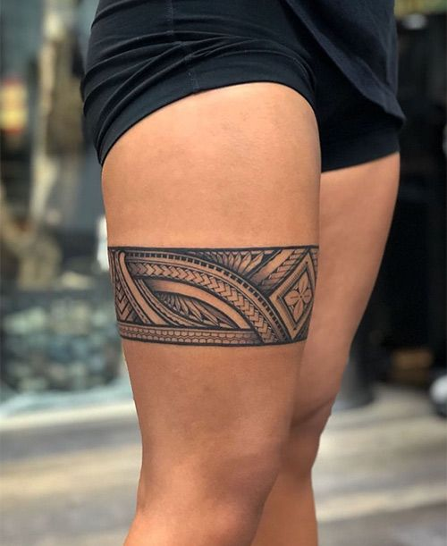 19 Best Polynesian Tattoo Designs With Meanings In 2020 Leg Band Tattoos Leg Tattoos Women Polynesian Tattoos Women