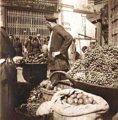 Bazaar in Tiflis, Georgia, by David Guramishvili
