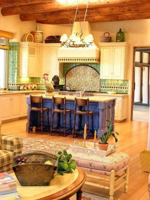 30 Inspiring Spanish Kitchen Design Ideas Spanish Style Kitchen Mexican Home Decor Hacienda Style Kitchen