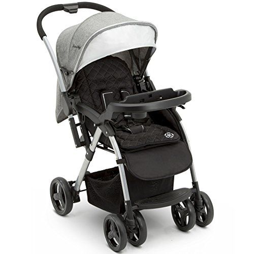 Jeep Unlimited Reversible Handle Stroller Grey Tweed Baby