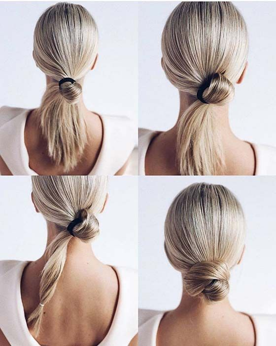 23 Super Easy Updos For Busy Women Stayglam Hairstyles Hair Haircuts Style Celebrity Wedding Hair Easy Homecoming Hairstyles Long Hair Styles