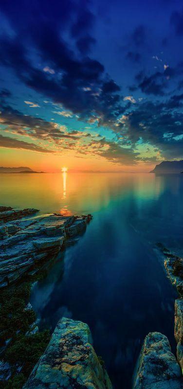 'Calm Sea' Sunset, Arctic, Norway | by Robert Alexandersen