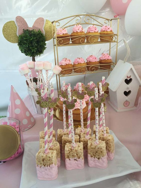 Amazing treats at a Minnie Mouse bowtique birthday party! See more party ideas at CatchMyParty.com!