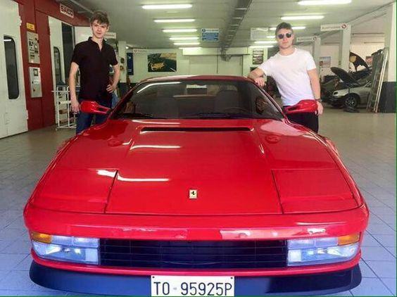 Photo of Thomas Sangster Ferari - car