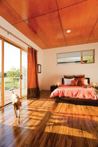 Plywood plywood ceiling and stains on pinterest for Bedroom designs plywood