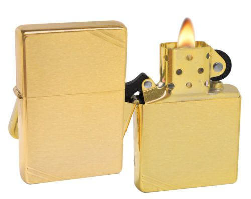 Zippo Lighter 240 1937 Vintage Series With Slashes Brushed Brass Windproof New Zippo Lighter Lighter Zippo