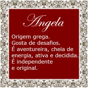 Significado do nome Angela | Significado dos Nomes