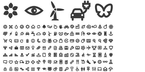 icones monochromes