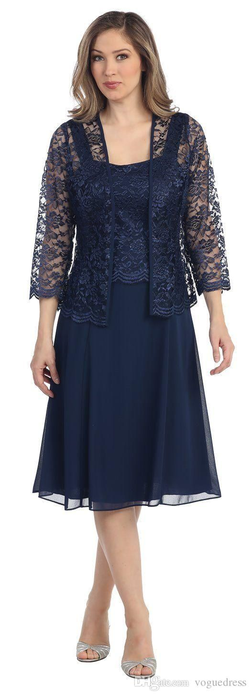 Navy blue long sleeve dress lace jacket