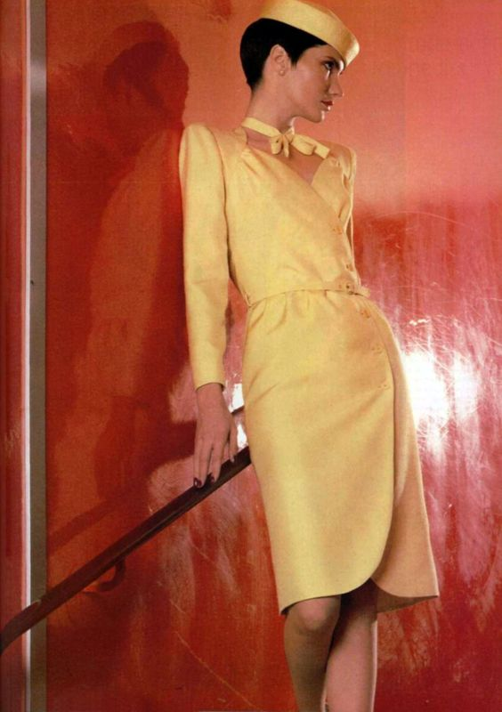 yellow dress outfits 1980
