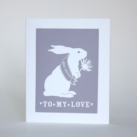 Greeting Card/To My Love/ Bunny Most by foxyandwinston on Etsy, $4.00