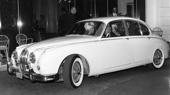 Princess Grace of Monaco in a Jaguar early 60s