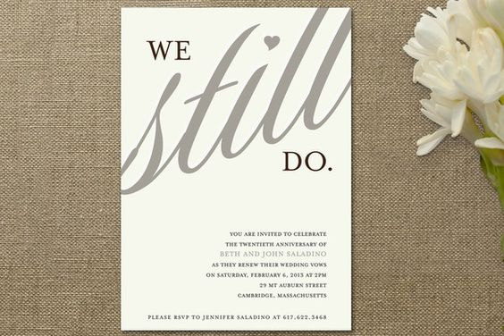 Wedding Vow Renewal Invitation Wording Samples: Invite For Anniversary Party Or Vow Renewal Ceremony