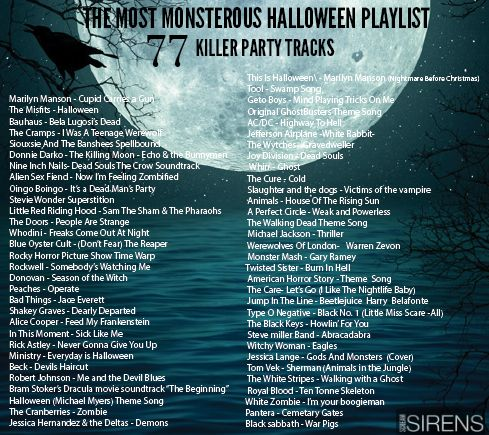 the most epic compilation halloween party playlist just a click away screamsirens playlist halloween halloweenplaylist party music https - List Of Halloween Music