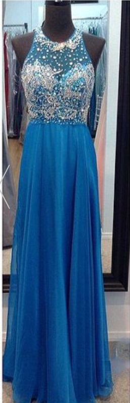 #blue  #chiffon #prom #party #evening #dress #dresses #gowns #cocktaildress…