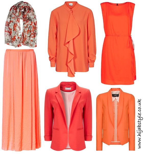Hijab Style: High Street Finds: Orange