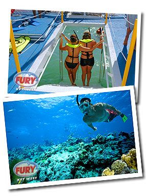 Key West - Snorkeling at Seven Mile Reef - we use the Fury Cat for transport