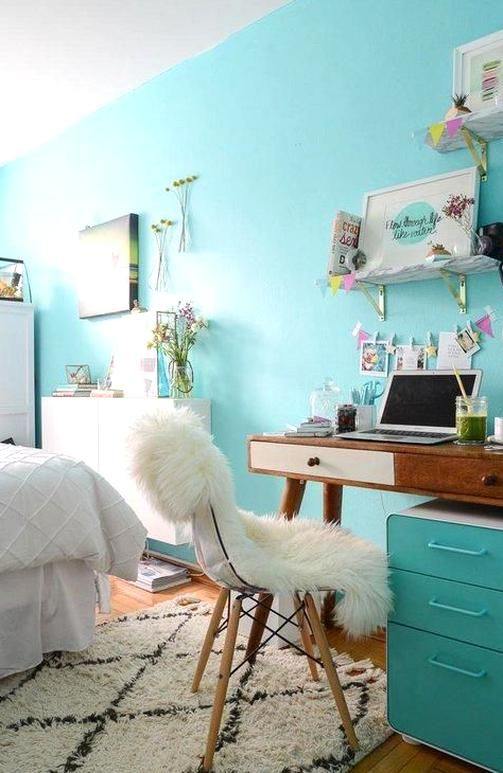 How To Make Your Bedroom And Dorm Incredibly Calming And Zen A Creative Workspace Small Room Bedroom Girls Blue Bedroom Bedroom Interior