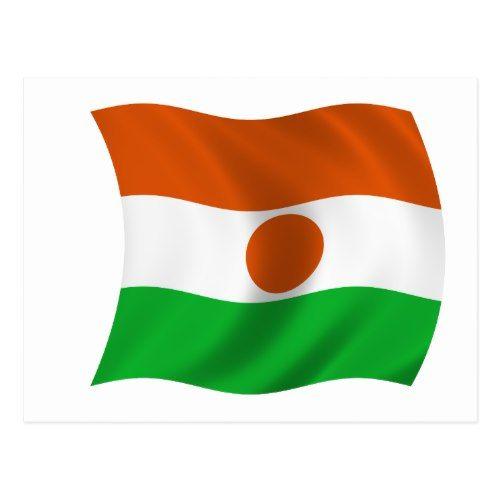 Flag Of Niger Postcard Zazzle Com Flag Postcard Niger