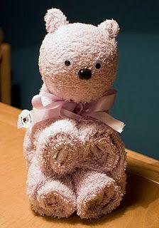 how to make a towel bear: