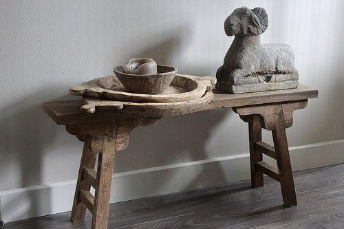 Binnenkijken Bij Liza De Wemelaer Decoraties Houten Bankjes Voor Het Huis