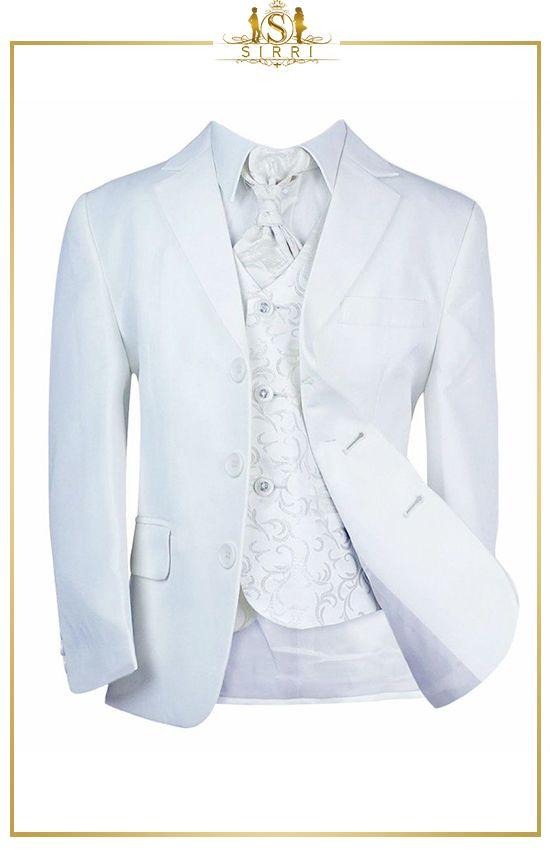 Kinder Jungen Hochzeitsanzug Von Milano Weiss In 2020 Elegante Mode Anzug Hochzeitsanzug