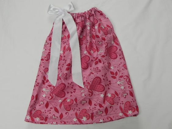 Valentines Pillowcase dress by tutus2trains on Etsy, $20.00