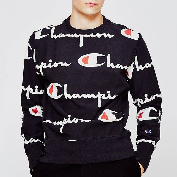 New drop of @Champion including this clean logo print jumperhttp://ift.tt/2braG6s #Champion #Sportswear
