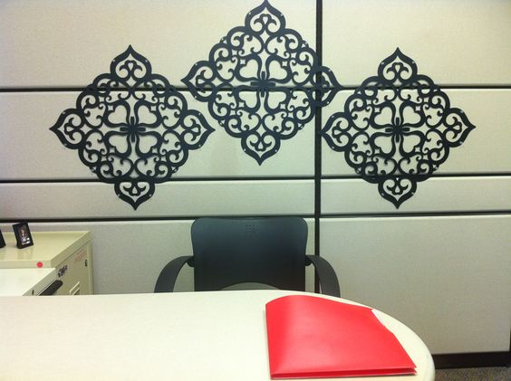 Cubicle wall decor my office pinterest vinyls for Cubicle wall decor