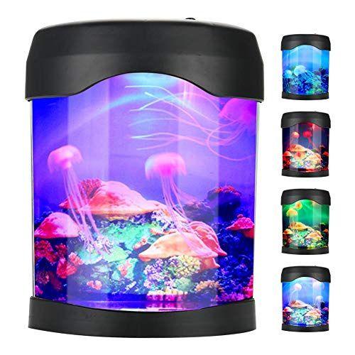Artificial Mini Aquarium Fish Tank Usb Jellyfish Lamp El Https