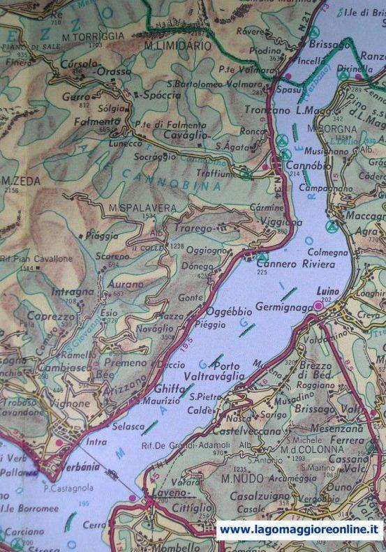 Lago Maggiore Cartina Stradale.Mappa Lago Maggiore Cartina Geografica Del Lago Mappa Lago Geografia
