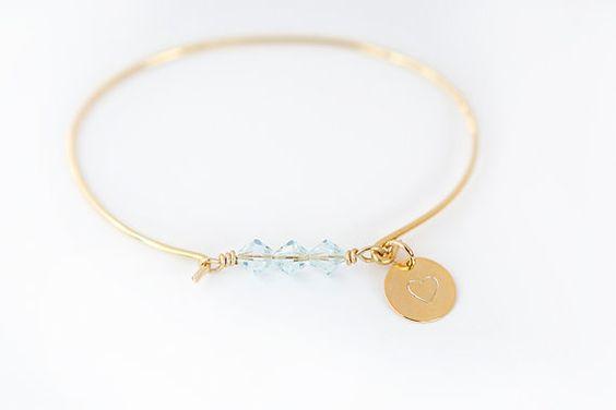 Something Blue  Wedding gift bridal bracelet  by charmedhoop22, $24.00