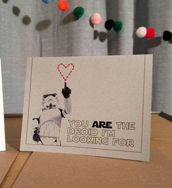 Star Wars Valentines Card by eyesoredesign on Etsy, $4.00