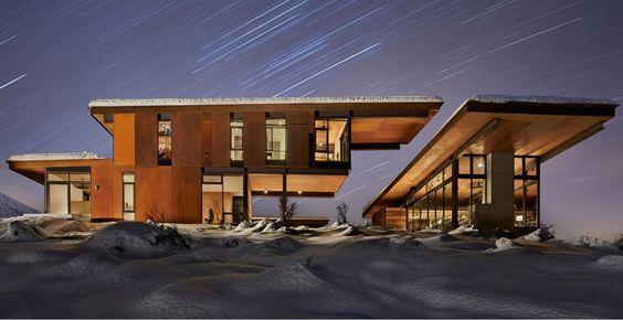 Belle maison bois contemporaine isolée dans les montagnes de Washington, Studhorse par Olson Kundig - Washington, Etats-Unis #construiretendance
